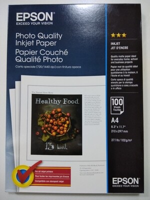 Epson Photo Paper A4, 100 Sheets, 102gm
