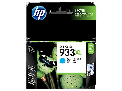 HP 933XL Ink Cartridge, Cyan