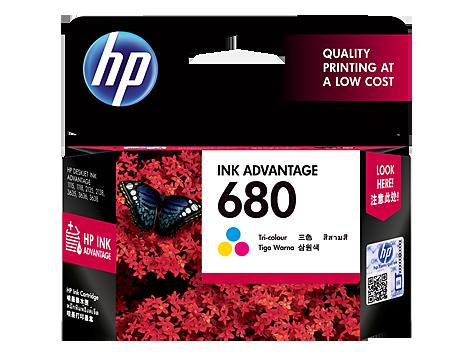 HP 680 Ink Cartridge, Tri Color