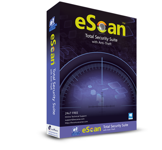 1 User, 1 Year, eScan Total Security, V-14.x