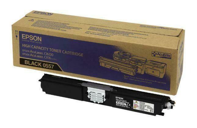 Epson 0557 C1600 & CX16 Toner Cartridge, Black