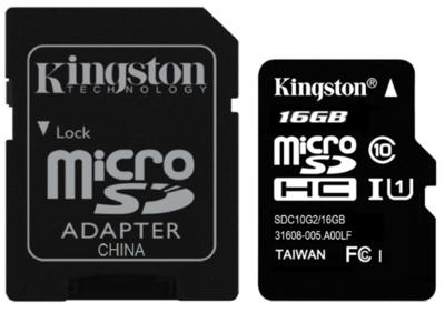 Kingston 16GB Memory Card, 80mbps, Class 10