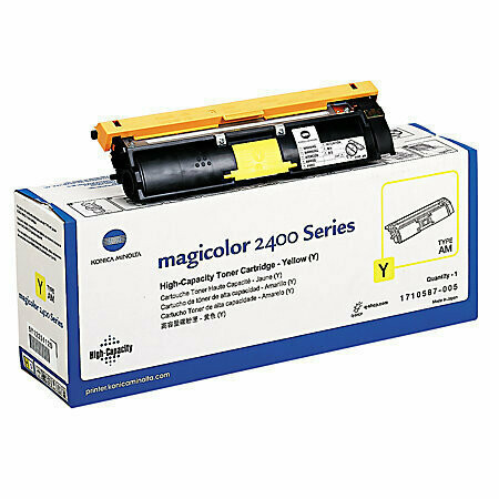 Konica Minolta 1710587-2400W Yellow Toner Cartridge 6