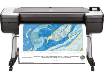 HP DesignJet T1700dr 44-in PostScript Plotter Printer
