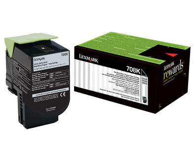 Lexmark 708K Toner Cartridge, Black
