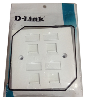 D-Link 86*86 mm, Quad Faceplate