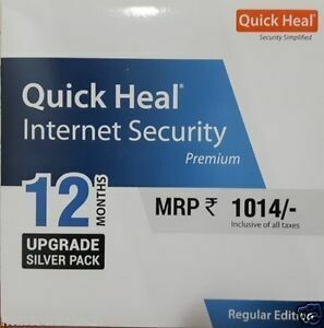 Renewal, 1 User, 1 Year, Quick Heal Internet Security