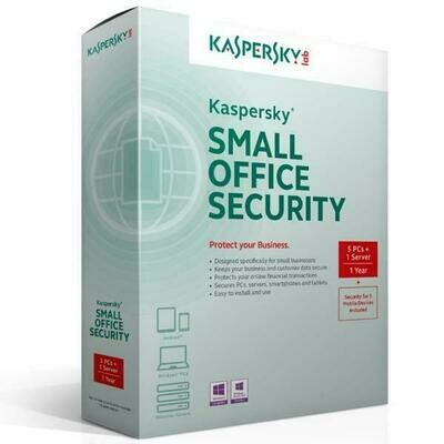 15 PC, 2 Server, 15 Mobile, 1 Year, Kaspersky Small Office Security