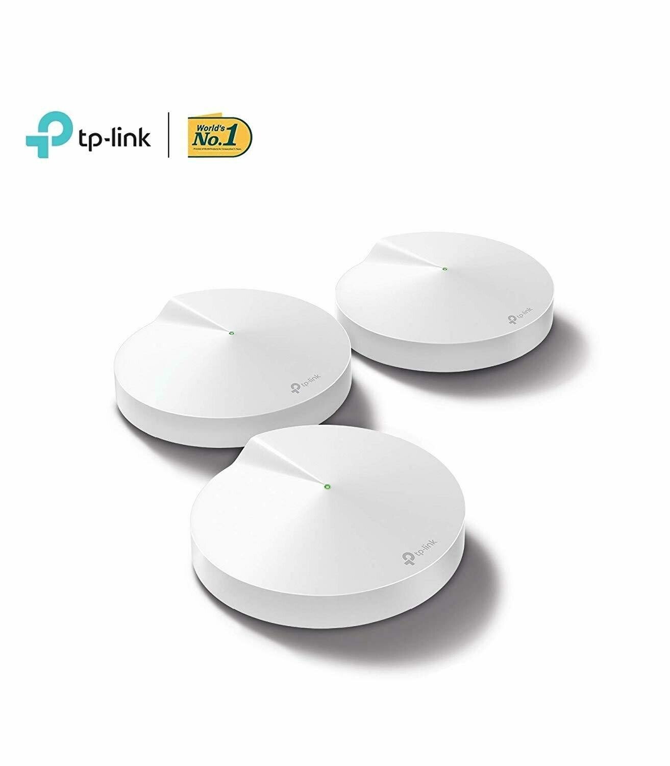 TP Link Deco M9 Plus AC2200 Smart Home Mesh Wi-Fi System, Pack of 3