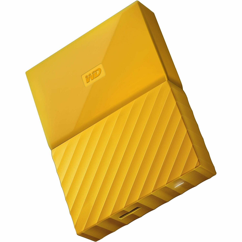 WD 4TB My Passport USB External Hard drive, Yellow