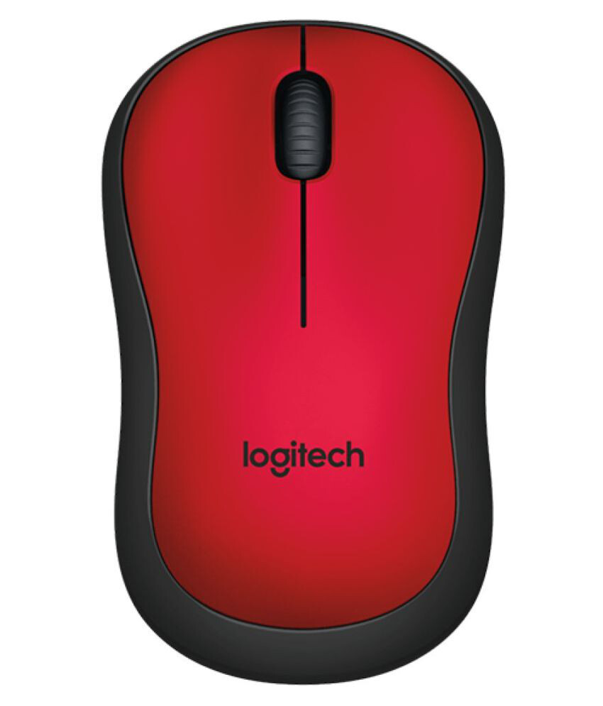 Logitech M221 Silent Wireless Mouse, Red