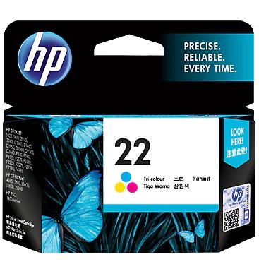 HP 22 Ink Cartridge, Tri Color