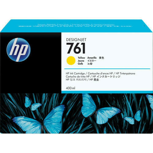 HP 761 Ink Cartridge, Yellow 400ml, CM992A