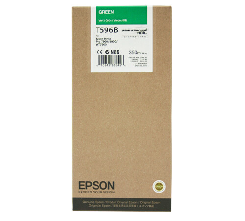 Epson T596B Green Ink Cartridge, 350ml