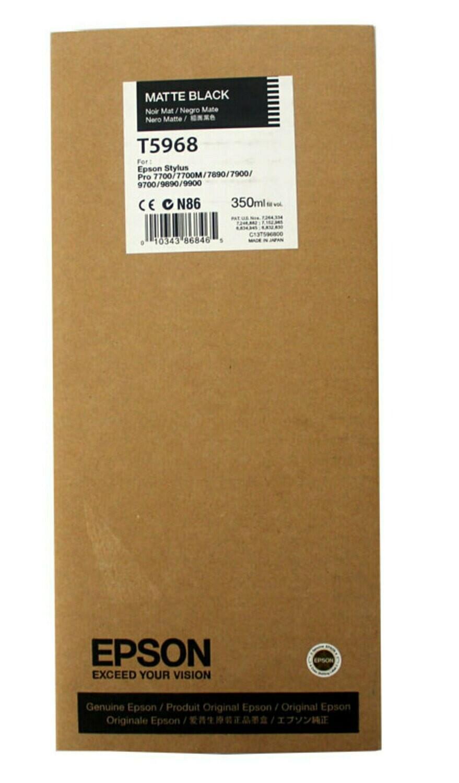 Epson T5968 Ink Cartridge, Matte Black, 350ml