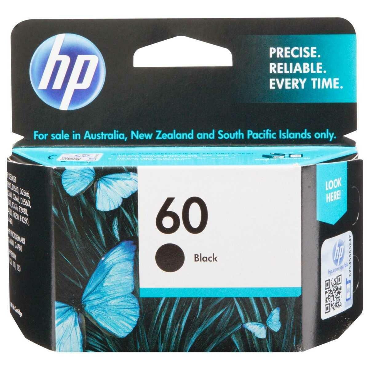 HP 60 Ink Cartridge, Black