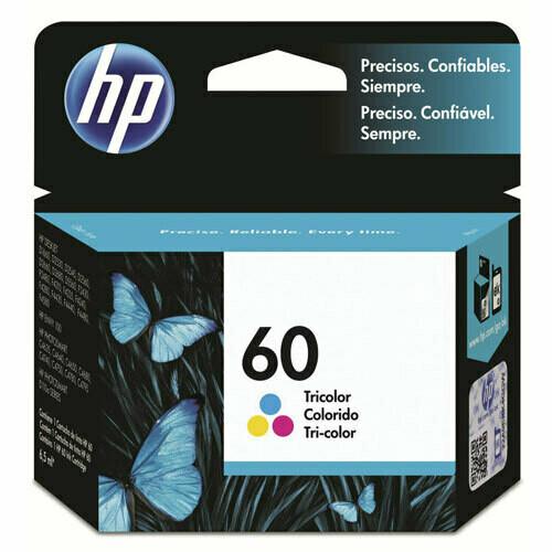 HP 60 Ink Cartridge, Tri Color