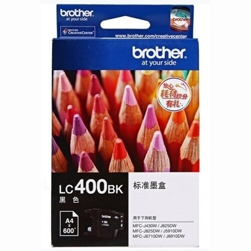 Brother LC400 Ink Cartridge, Black