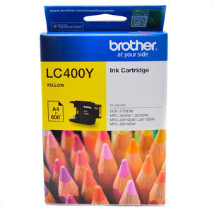 Brother LC400 Ink Cartridge, Yellow