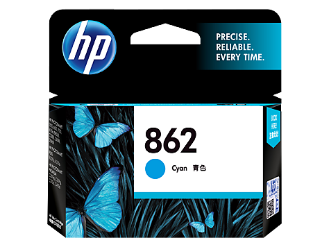 HP 862 Ink Cartridge, Cyan
