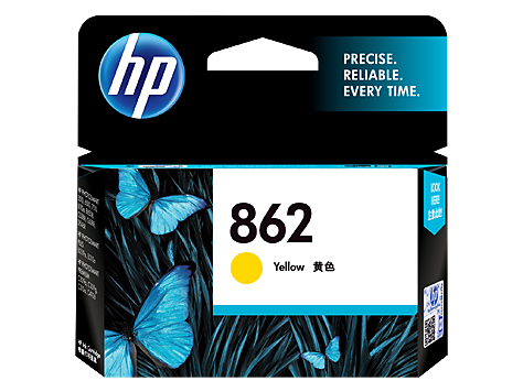 HP 862 Ink Cartridge, Yellow