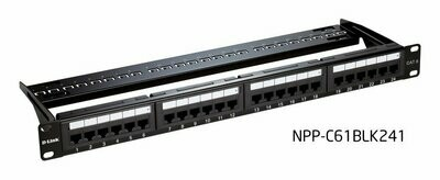 D-Link Cat6 UTP 24 Port Loaded Patch Panel