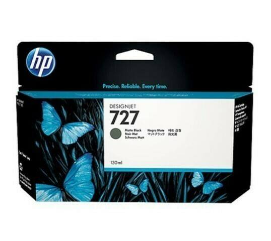 HP 727 Ink Cartridge, Matte Black, 130ml