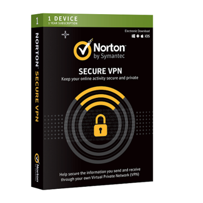 Norton Wi-Fi Privacy, VPN, 1 Device, 12 Months
