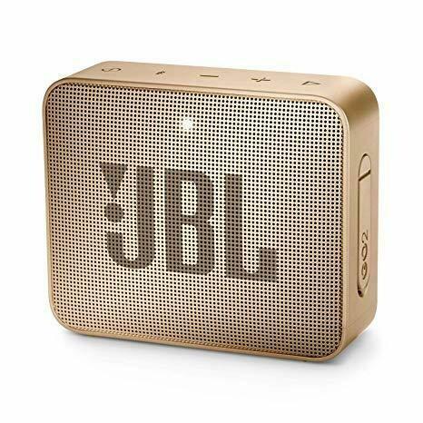 JBL GO 2 Portable Bluetooth Waterproof Speaker, Champagne