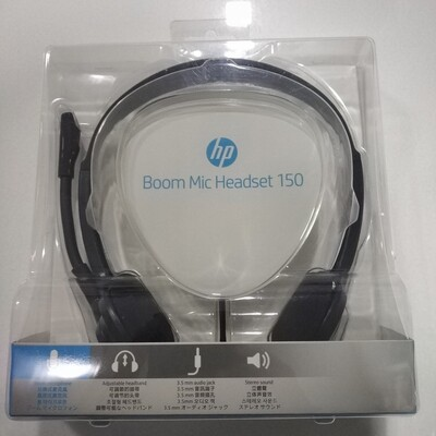 HP 150 Boom Mic Headset, Black