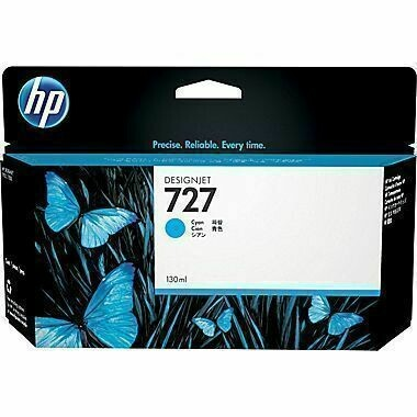 HP 727 Ink Cartridge, Cyan, 130ml