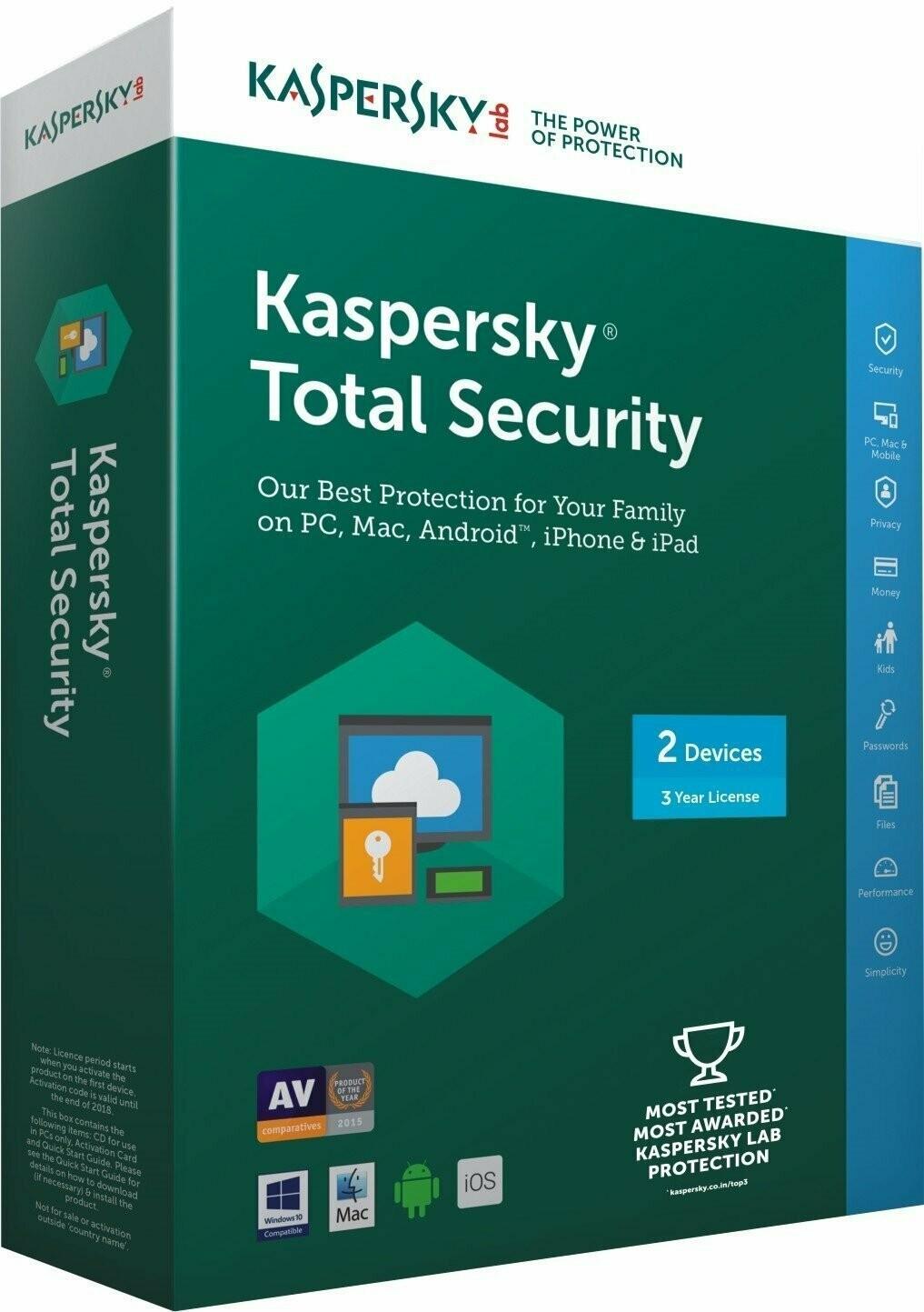 2 User, 3 Year, Kaspersky Total Security