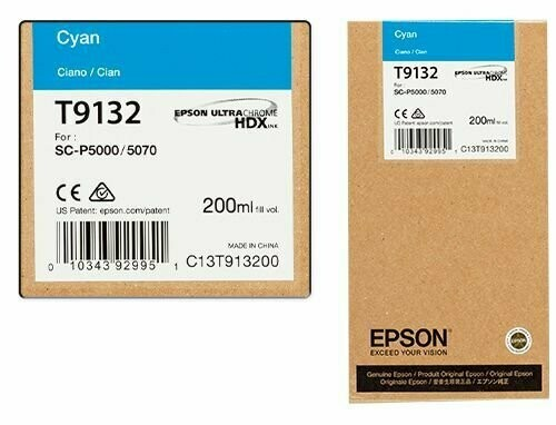 Epson T9132 Ink Cartridge, Cyan, 200ml