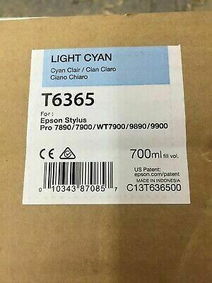 Epson T6365 Ink Cartridge, Light Cyan, 700ml