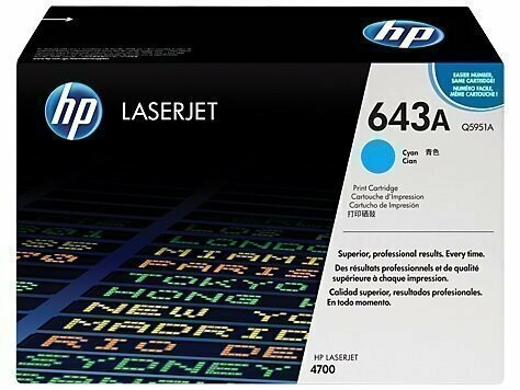 HP Q5951A 643A Cyan Toner Cartridge