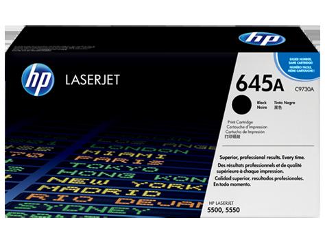 HP C9730A 645A Toner Cartridge, Black