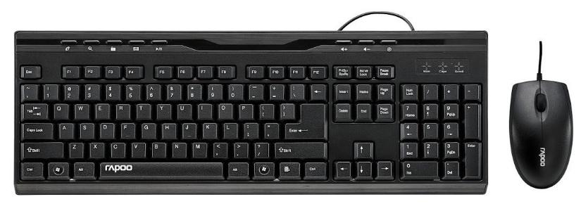 Rapoo NX1710 USB Multimedia Keyboard Mouse