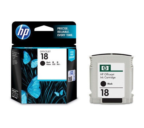 HP 18 Ink Cartridge, Black, C4936A