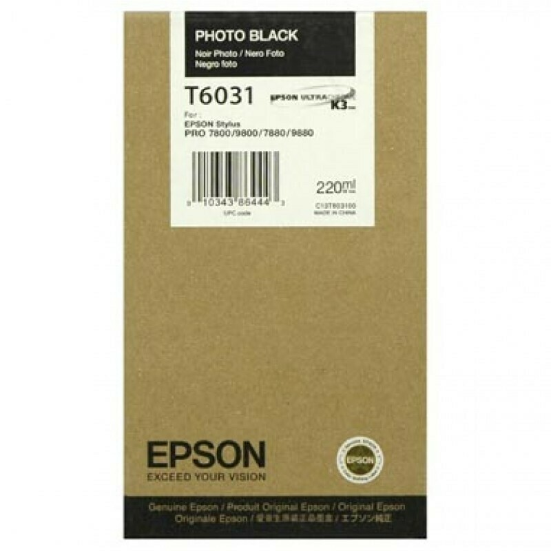 Epson T6031 Ink Cartridge, Photo Black