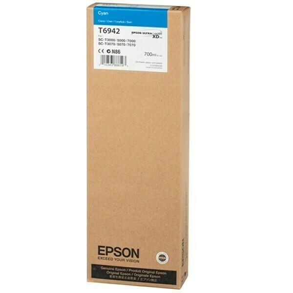 Epson T6942 Ink Cartridge, Cyan, 700ml