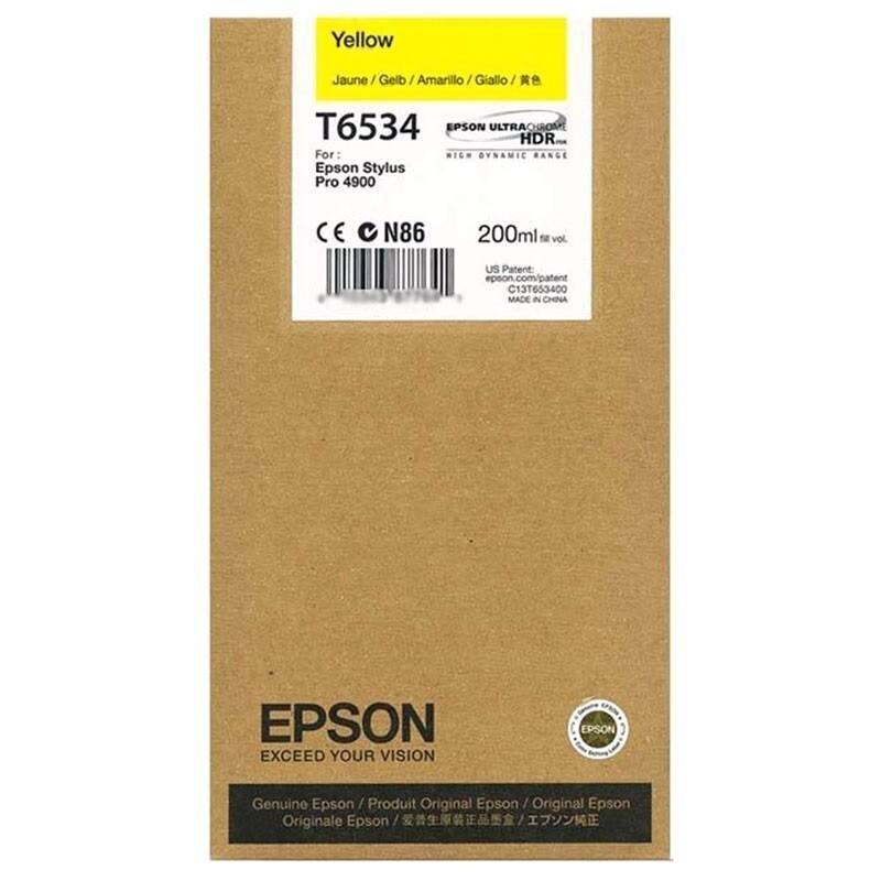 Epson T6534 Ink Cartridge, Yellow, 200ml