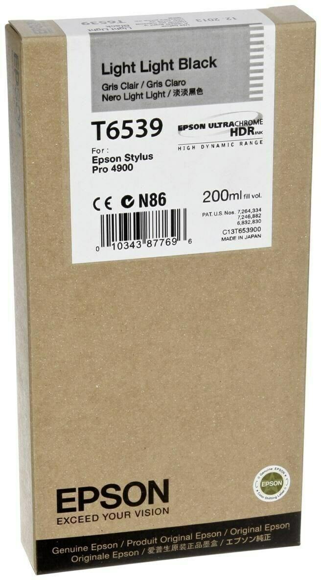 Epson T6539 Ink Cartridge, Light Black, 200ml