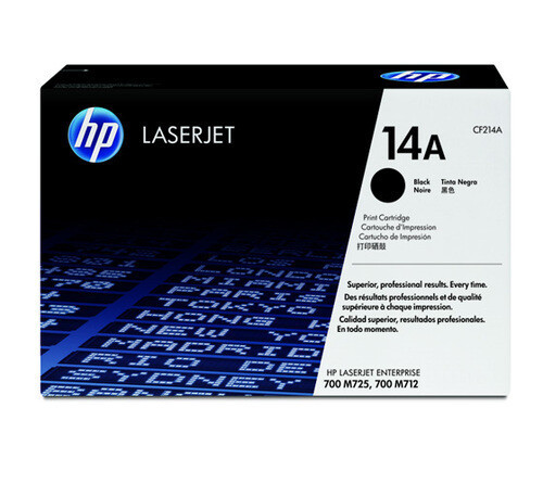 HP 14A Toner Cartridge, Black, CF214A