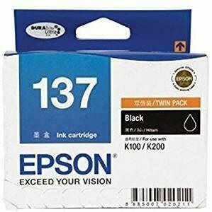Epson 137 Ink Cartridge, Black