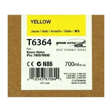Epson T6364 Ink Cartridge, Yellow, 700ml