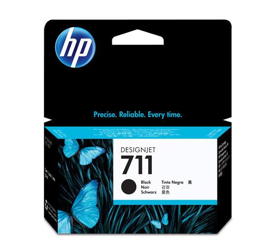 HP 711 Ink Cartridge, Black, 38ml