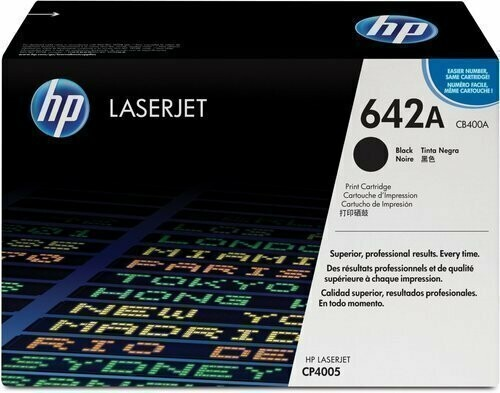 HP 642A Toner Cartridge, Black, CB400A