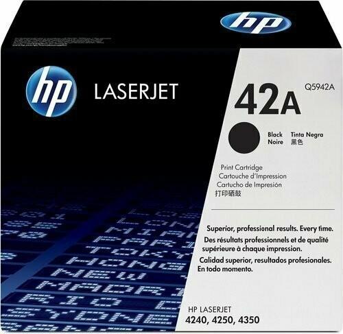 HP Q5942A 42A Toner Cartridge, Black