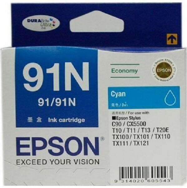 Epson 91N Ink Cartridge, Cyan