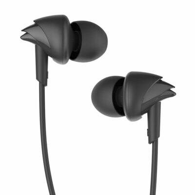 boAt BassHeads 100 in-Ear Headphones with Mic, Black